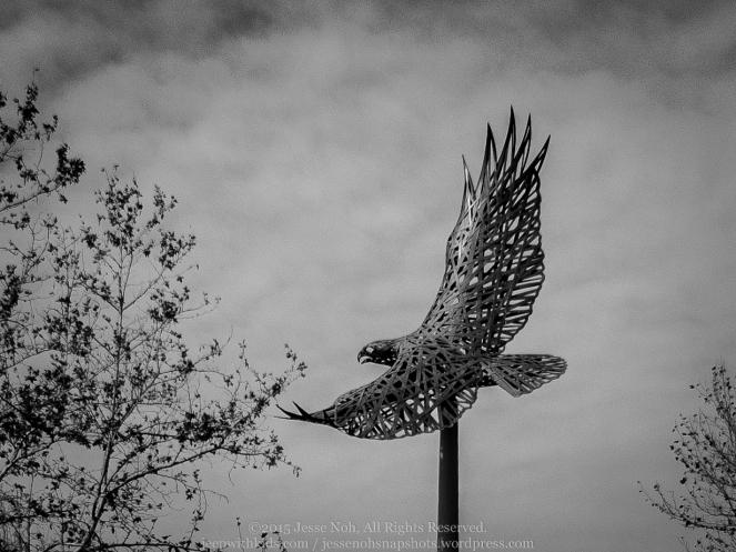 Soaring Eagle statue in Olinda Ranch.